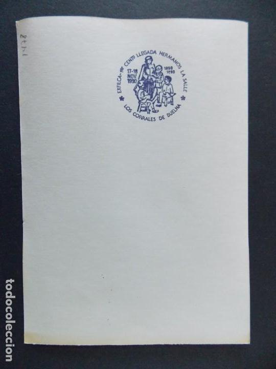 Sellos: LOS CORRALES DE BUELNA 1990 , SANTANDER , CANTABRIA - 100 ANIV. LA SALLE -TARJETA ILUSTRADA .A453 - Foto 2 - 141481726