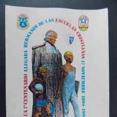 Sellos: LOS CORRALES DE BUELNA 1990 , SANTANDER , CANTABRIA - 100 ANIV. LA SALLE -TARJETA ILUSTRADA .A453. Lote 141481726