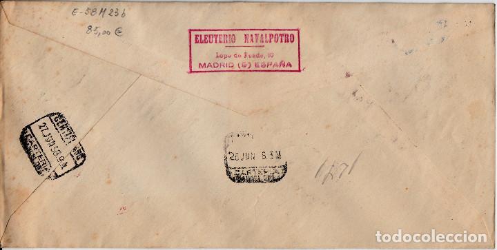 Sellos: SPD EXPOSICION FILATÉLICA BRUSELAS -1958 NUMS 1220-1221-1222-1223 Y MATASELLOS EXPOS.FIL.SINDICATO - Foto 2 - 141598882