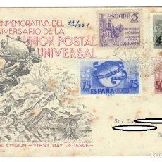 Sellos: SOBRE SPD (MADRID 1949), ALFIL: DÍA DEL SELLO - EMISIÓN CONMEMORATIVA DEL 75 ANIVERSARIO DE LA UNIÓN. Lote 141738694