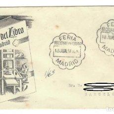 Sellos: SOBRE (MADRID 1951): FERIA NACIONAL DEL LIBRO. Lote 141746850