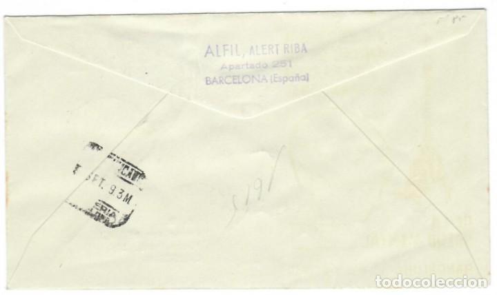 Sellos: Sobre (Barcelona 1959) Alfil: VI Exposición Filatélica de Sans-Hostafranchs - Tema marítimo - Foto 2 - 142026674