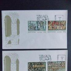 Sellos: PATRIMONIO DE LA HUMANIDAD, 1989 - EDIFIL 3038/41 COMPLETA, EN 2 SOBRES PRIMER DIA SFC... A541. Lote 142144430