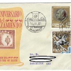 Sellos: SOBRE SPD (MADRID 1961), ALFIL: XXV ANIVERSARIO DEL ALZAMIENTO - PRIMER DÍA DE EMISIÓN. Lote 142678570