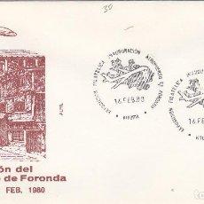 Briefmarken - 1980 VITORIA (ÁLAVA) -EXPOSICION FILAT, INAUGURACIÓN AEROPUERTO FORONDA - SOBRE ALFIL CON MATASELLOS - 142707930