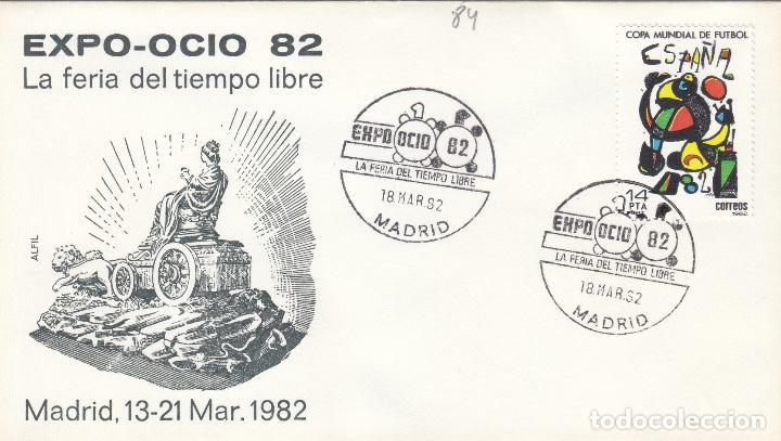 1982 MADRID - EXPO- OCIO ESPAÑA 82 FERIA TIEMPO LIBRE - SOBRE ALFIL (Sellos - Historia Postal - Sello Español - Sobres Primer Día y Matasellos Especiales)