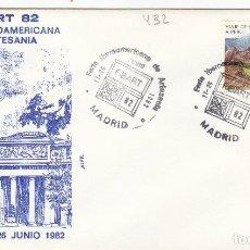 Sellos: 1982 MADRID - FIBART 82 , FERIA IBEROAMERICANA DE ARTESANIA - SOBRE ALFIL . Lote 143000902