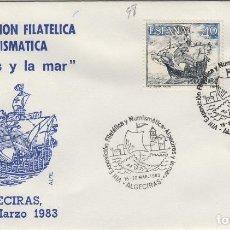 Sellos: 1983 ALGECIRAS ( CÁDIZ ) - VIII EXPOSICIÓN FILATÉLICA ALGECIRAS Y LA MAR - SOBRE ALFIL. Lote 143229806