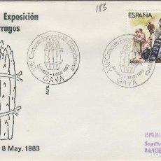 Sellos: 1983 T GAVA ( BARCELONA ) - XXV CONCURSO EXPOSICIÓN DE ESPÁRRAGOS - SOBRE ALFIL. Lote 143350390