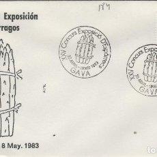 Sellos: 1983 T GAVA ( BARCELONA ) - XXV CONCURSO EXPOSICIÓN DE ESPÁRRAGOS - SOBRE ALFIL. Lote 143350402