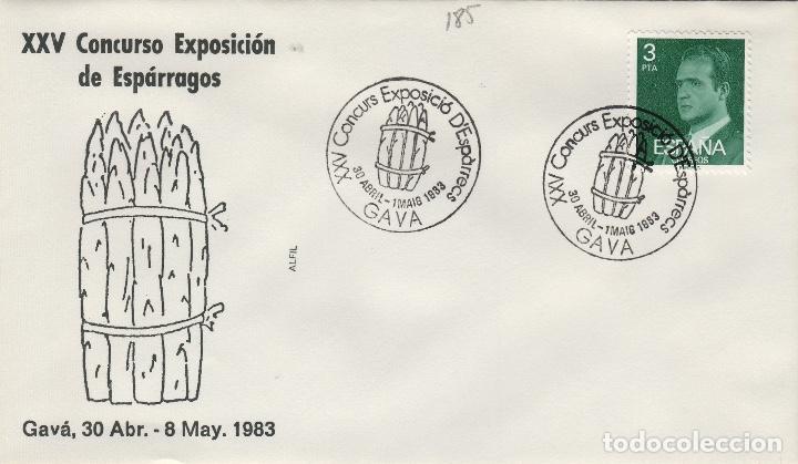 1983 T GAVA ( BARCELONA ) - XXV CONCURSO EXPOSICIÓN DE ESPÁRRAGOS - SOBRE ALFIL (Sellos - Historia Postal - Sello Español - Sobres Primer Día y Matasellos Especiales)