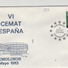 Sellos: 1983 TORREMOLINOS ( MÁLAGA ) - VI CEMAT ESPAÑA , - SOBRE ALFIL . Lote 143350950
