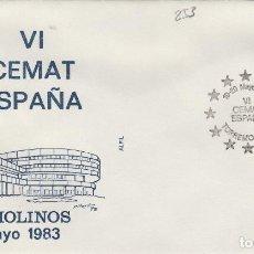 Sellos: 1983 TORREMOLINOS ( MÁLAGA ) - VI CEMAT ESPAÑA , - SOBRE ALFIL . Lote 143350954