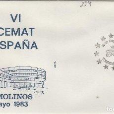 Sellos: 1983 TORREMOLINOS ( MÁLAGA ) - VI CEMAT ESPAÑA , - SOBRE ALFIL . Lote 143350958