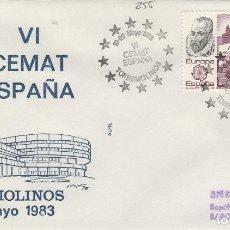 Sellos: 1983 TORREMOLINOS ( MÁLAGA ) - VI CEMAT ESPAÑA , - SOBRE ALFIL . Lote 143350962