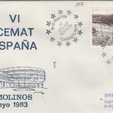 Sellos: 1983 TORREMOLINOS ( MÁLAGA ) - VI CEMAT ESPAÑA , - SOBRE ALFIL . Lote 143350966