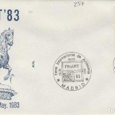 Sellos: 1983 MADRID - FINART'83 , EXPOSICIÓN , FERIA INTERNACIONAL DE ARTESANIA - SOBRE ALFIL . Lote 143350982