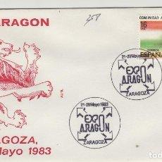 Sellos: 1983 ZARAGOZA - EXPOARAGÓN , EXPOSICIÓN - SOBRE ALFIL . Lote 143351062