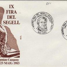 Sellos: 1983 MATARO ( BARCELONA ) - IX FERIA DEL SELLO , HOMEHAJE DAMIAN CAMPENY - SOBRE ALFIL . Lote 143351090