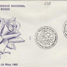 Sellos: 1983 REUS ( TARRAGONA ) - EXPOSICIÓN NACIONAL DE ROSAS - SOBRE ALFIL . Lote 143351106