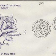 Sellos: 1983 REUS ( TARRAGONA ) - EXPOSICIÓN NACIONAL DE ROSAS - SOBRE ALFIL . Lote 143351110
