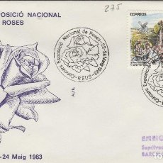 Sellos: 1983 REUS ( TARRAGONA ) - EXPOSICIÓN NACIONAL DE ROSAS - SOBRE ALFIL . Lote 143351118