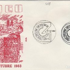 Sellos: 1983 LUGO - FERIA EXPOSICION SAN FROILAN - SOBRE ALFIL . Lote 143940846