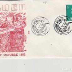 Sellos: 1983 LUGO - FERIA EXPOSICION SAN FROILAN - SOBRE ALFIL . Lote 143940862