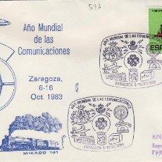 Sellos: 1983 ZARAGOZA - AÑO MUNDIAL DE LAS COMUNICACIONES - SOBRE ALFIL . Lote 143940986