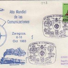 Sellos: 1983 ZARAGOZA - AÑO MUNDIAL DE LAS COMUNICACIONES - SOBRE ALFIL . Lote 143940994