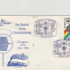 Sellos: 1983 ZARAGOZA - AÑO MUNDIAL DE LAS COMUNICACIONES - SOBRE ALFIL . Lote 143940998