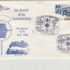 Sellos: 1983 ZARAGOZA - AÑO MUNDIAL DE LAS COMUNICACIONES - SOBRE ALFIL . Lote 143941006
