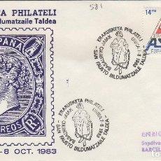 Sellos: 1983 BASAURI ( VIZCAYA ) . EXPOSICION FILATÉLICA - SOBRE ALFIL . Lote 143941190