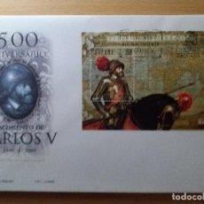 Sellos: SOBRE, SELLO CORREOS, 500 ANIVERSARIO CARLOS V. AÑO 2000. NUEVO... Lote 143991142