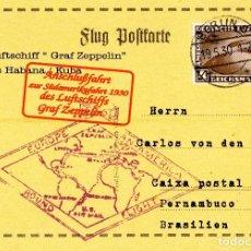 Sellos: BUQUE AEREO GRAF ZEPPELIN EN HABANA/CUBA. ALEMANIA 1930. Lote 152548334