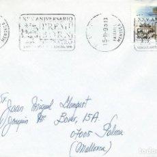 Sellos: 1995. SPAIN. CIUTADELLA, MENORCA. RODILLO/POSTMARK. PREMIO BORN DE TEATRO. THEATRE. CULTURA/CULTURE.. Lote 144506670