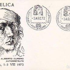 Sellos: PINTURA ALBERTO DURERO VIII EXPOSICION, PONTEVEDRA 1972. RARO MATASELLOS EN SOBRE SIN CIRCULAR ALFIL. Lote 144637726