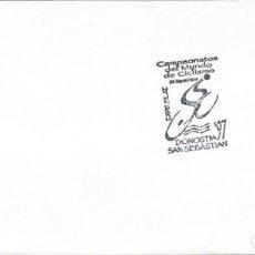 Sellos: 1997. SAN SEBASTIÁN. MATASELLOS/POSTMARK. CAMPEONATOS DEL MUNDO CICLISMO. CYCLING. DEPORTES/SPORTS.. Lote 145780542