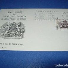 Sellos: SOBRE PRIMER DIA DE CIRCULACION--TRES SIGLOS DE HACIENDA PUBLICA--1980. Lote 146399826