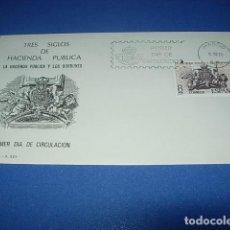 Sellos: SOBRE PRIMER DIA DE CIRCULACION--TRES SIGLOS DE HACIENDA PUBLICA--1980. Lote 146399858