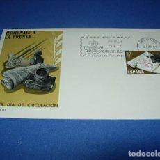Sellos: SOBRE CON MATASELLOS. MADRID. 1981. PRIMER DIA DE CIRCULACION. HOMENAJE A LA PRENSA.. Lote 146409234