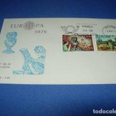 Sellos: ESPAÑA 1976.- PRIMER DIA CIRCULACIÓN.- EUROPA 76. Lote 146411826