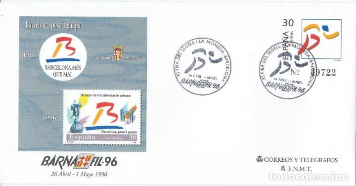 Sellos: 1996. BARCELONA. ENTERO POSTAL/STATIONERY. MATASELLOS BARNAFIL. DEPORTES/SPORTS. ATLETISMO/ATHLETICS - Foto 1 - 146615226