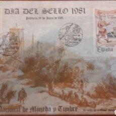Sellos: HOJA RECUERDO DIA DEL SELLO 1981 MATASELLADA MADRID. Lote 147034242