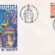 Sellos: SIDERURGIA ALTOS HORNOS III EXFIENSIDESA, GIJON (ASTURIAS) 1984. MATASELLOS EN RARO SOBRE ILUSTRADO.. Lote 147087942