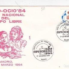 Sellos: 1984 MADRID - EXPO OCIO 84 , FERIA NACIONAL DEL TIEMPO LIBRE - SOBRE ALFIL. Lote 147312166