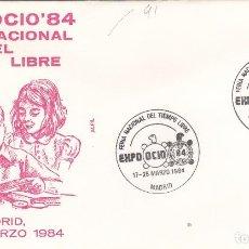 Sellos: 1984 MADRID - EXPO OCIO 84 , FERIA NACIONAL DEL TIEMPO LIBRE - SOBRE ALFIL. Lote 147312226