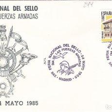 Sellos: 1985 MADRID - FERIA DEL SELLO , DIA DE LAS FUERZAS ARMADAS -SOBRE ALFIL . Lote 147471146