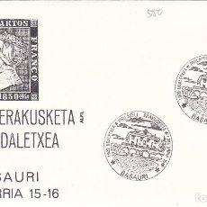 Sellos: 1985 BASAURI ( VIZCAYA ) - PHILATELI ERAKISKETA , EXPOSICION - SOBRE ALFIL . Lote 147502154
