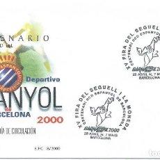Sellos: 2000. BARCELONA. BARNAFIL. CENTENARIO R.C.D. ESPANYOL. FÚTBOL/FOOTBALL. DEPORTES/SPORTS.. Lote 147554874